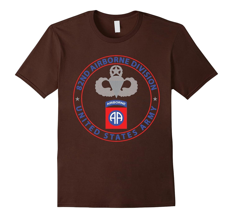82nd Airborne Division Tshirt Black-Teeae