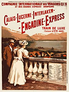 Decoration Travel Poster.Quality Reproduction Art.Victorian Railroad Train