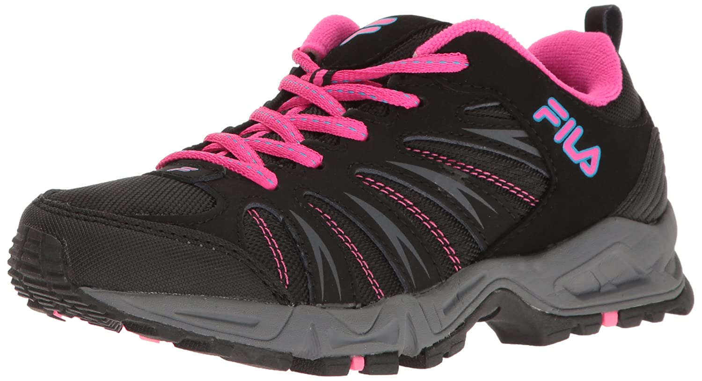 Fila Women's Trailbuster 2-W Trail Runner, Black/Atomic Blue/Pink Glow, 9.5 M US