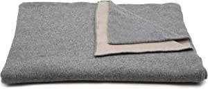State Cashmere Reversible Throw Blanket 100% Cashmere Two Tone Double Side Oversized Travel Wrap • 60 X 50 inches