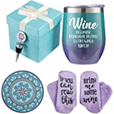 Wine Gift Baskets for Women - Unique Novelty Gift for Mom, Wife, Boss, Sister, Best Friend, Coworkers,Nurse - Christmas gifts