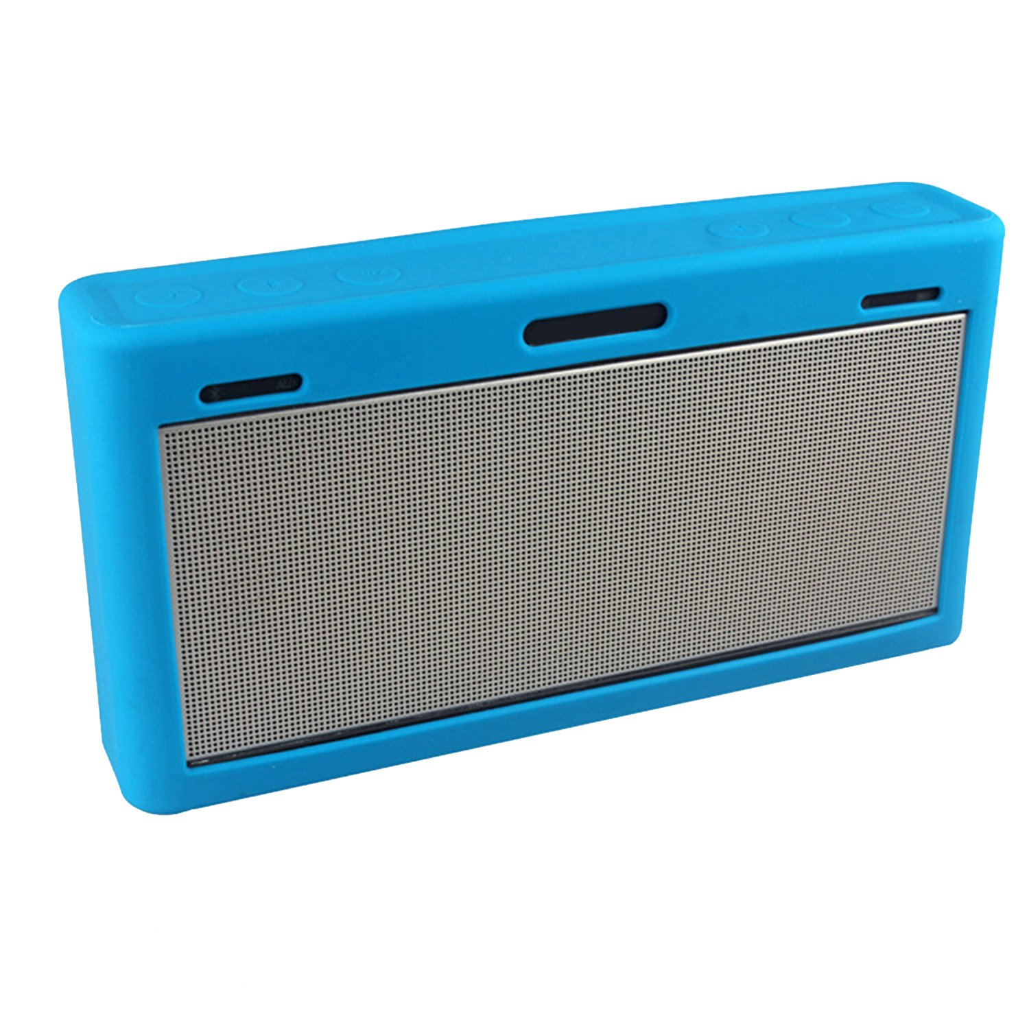 LuckyNV Protective Case Soft Silicone Shockproof Waterproof Protective Sleeve for Bose SoundLink 3 Bluetooth Speaker (Blue) by LuckyNV