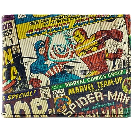 Cartera de Marvel Avengers Con textura estilo cómico Multicolor