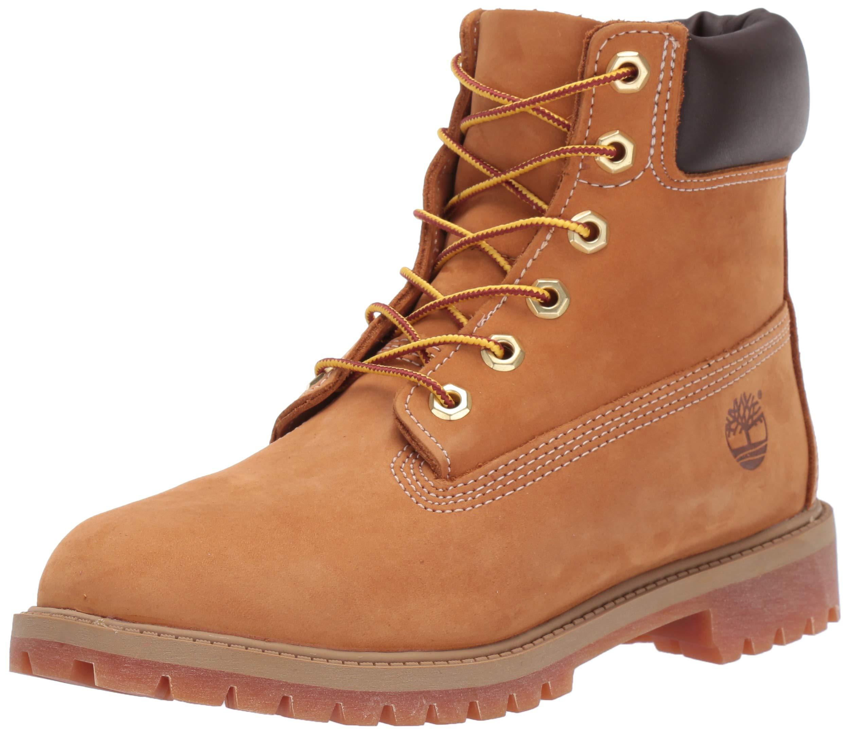 Timberland Junior 6In Premium Wp Boot Wheat Nubuck 5 M