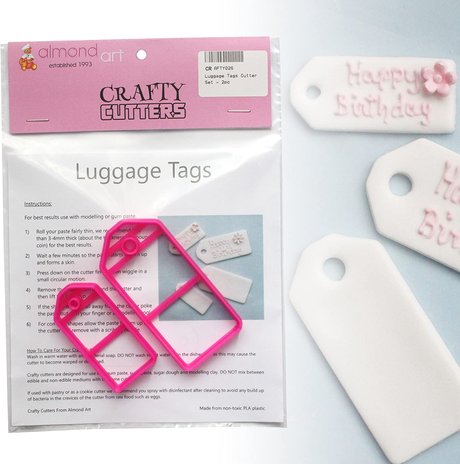 2pc Cake Decorating Tag Cutters Gift Luggage Tags Cutter Set