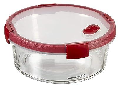 8ce3e9d71b58 Amazon.com: Keter Cook Glass Container, Transparent/Red, 16 x 16 x 7 ...