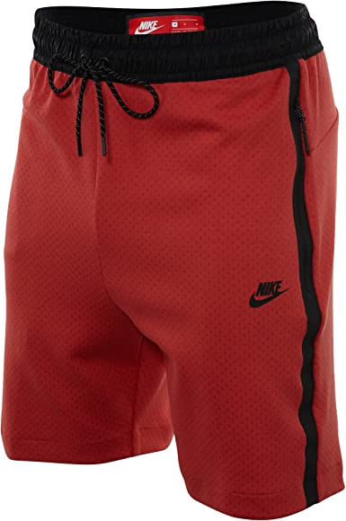 nike tech fleece shorts red
