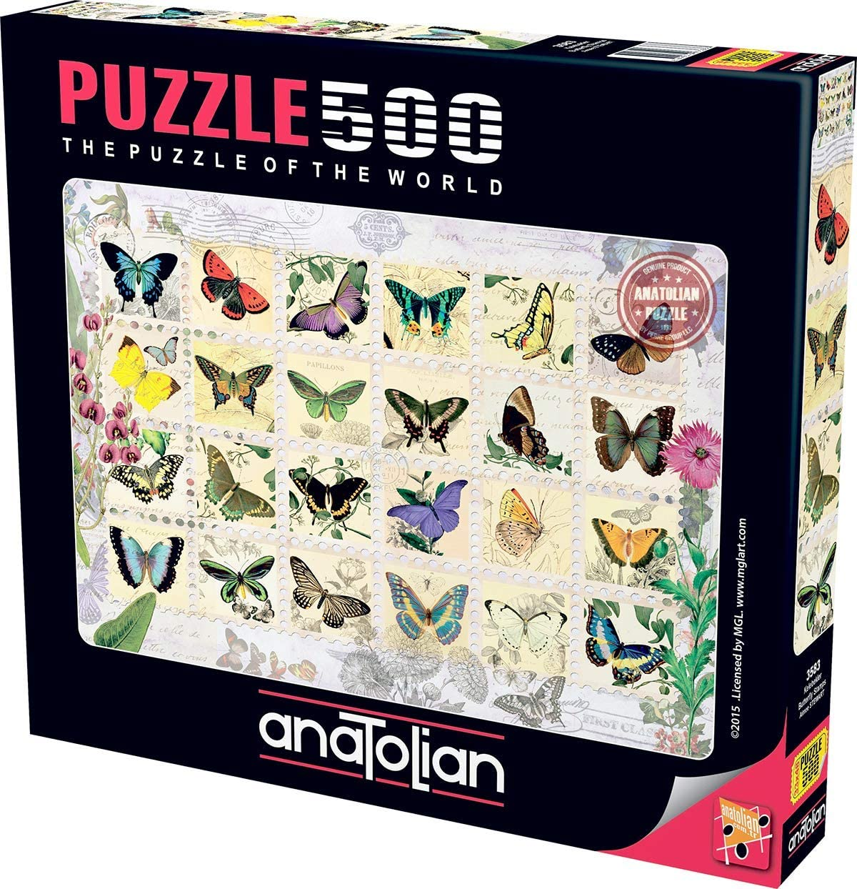 Anatolian Butterfly Stamps Jigsaw Puzzle (500 Piece)