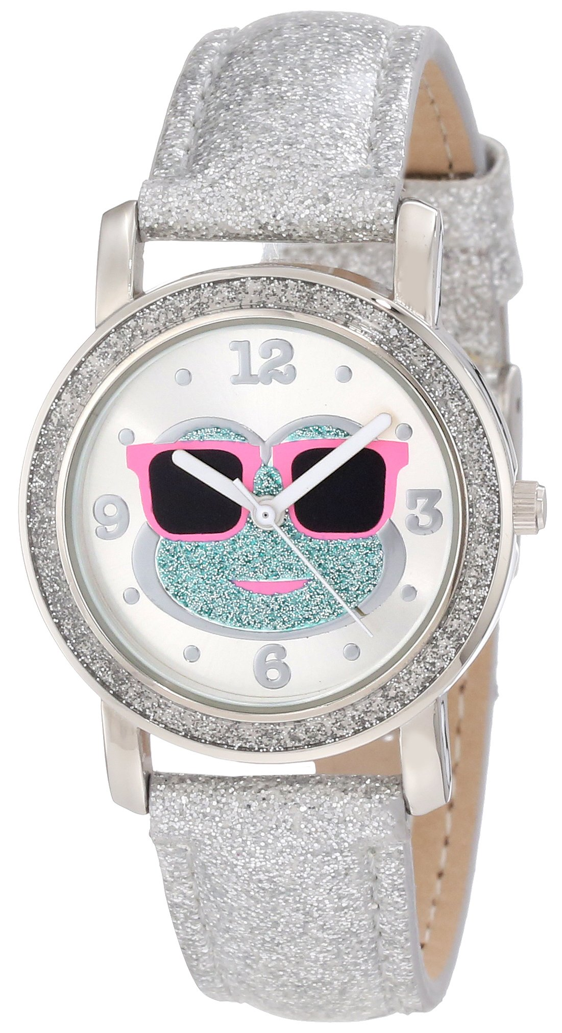 Frenzy Kids' FR464 Frog Watch with Silver Glitter Band
