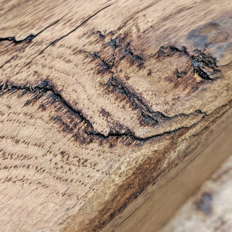 Natural Oak 10 x 10 x 50cm Ben Simpson Furniture Rustic Oak Beam Fireplace Mantel