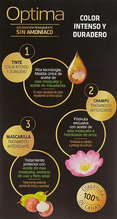 Llongueras Optima Tinte de Cabello Permanente sin Amoniaco ...
