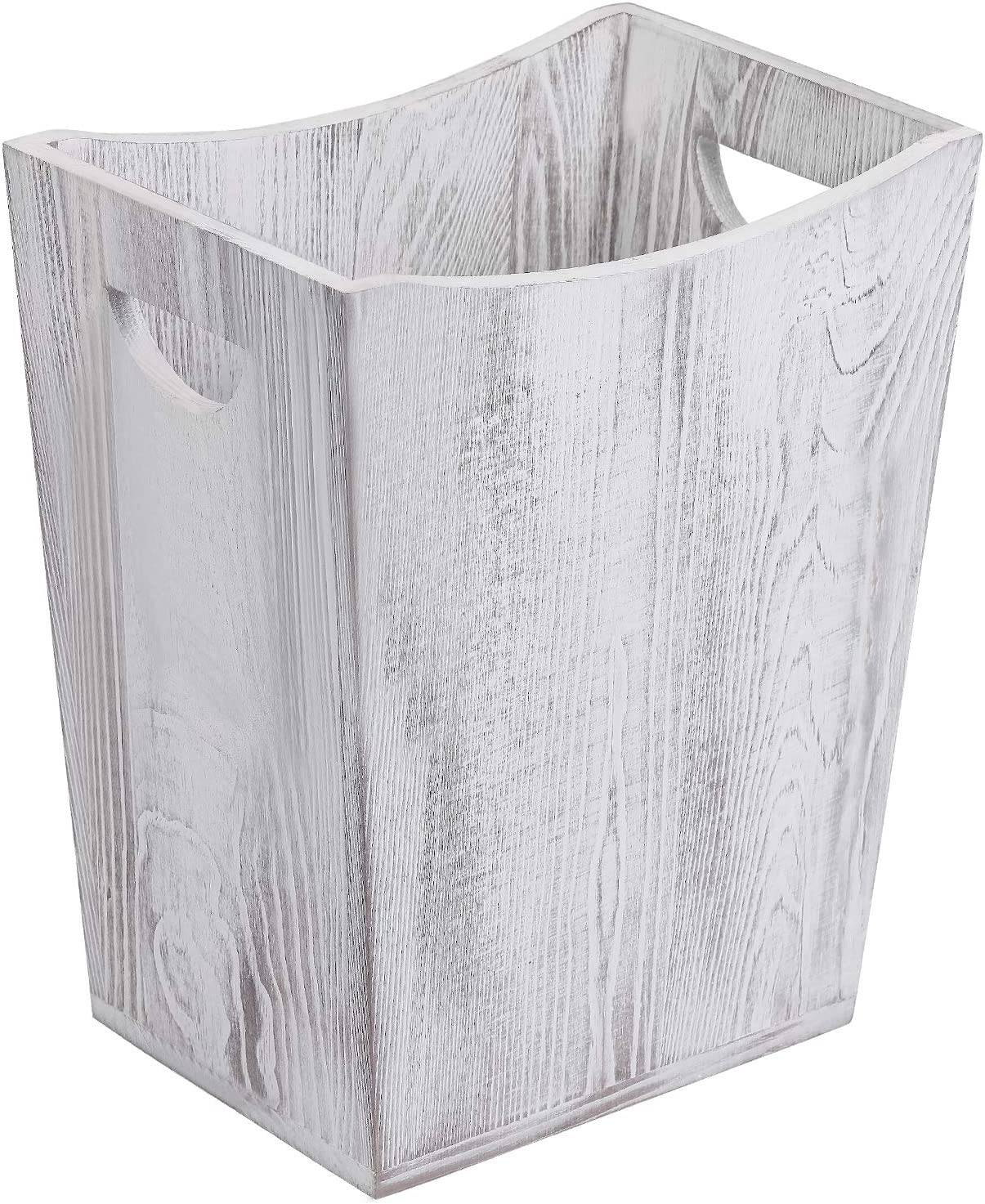 NEX Wood Trash Can, Rustic Farmhouse Style Wastebasket Bin for Bathroom, Office, Bedroom, Living Room