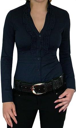 DIVA-MODE - Camisas - cuello en V - Manga Larga - para mujer