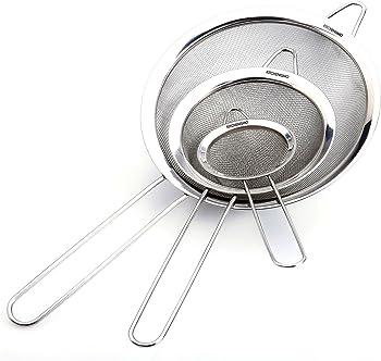 Kitchenismo Fine Mesh 3-Sets Strainers