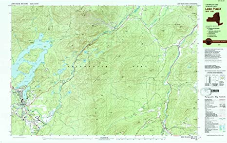 Lake Placid New York Map.Amazon Com Yellowmaps Lake Placid Ny Topo Map 1 25000 Scale 7 5