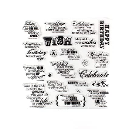 Making A Birthday Wish Sayings Clear Stamps For Diy Scrapbooking Decoration Card Making Supplieswish Phrases