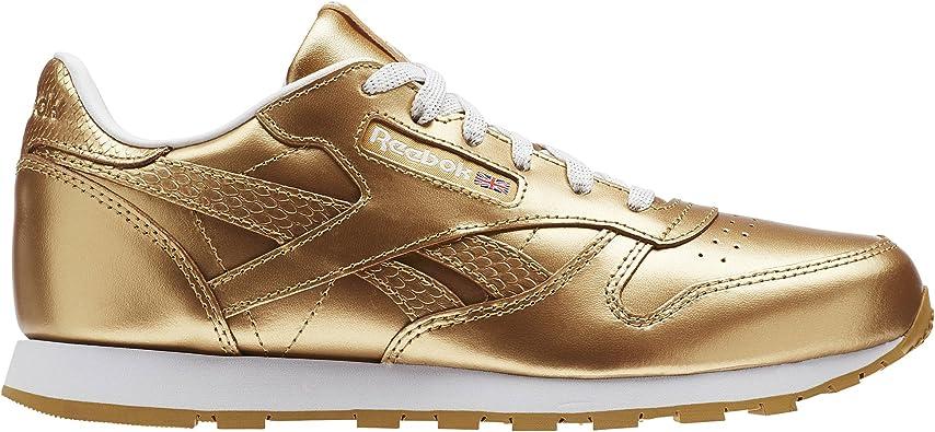 Reebok Classic Leather Metallic, Chaussures de running fille