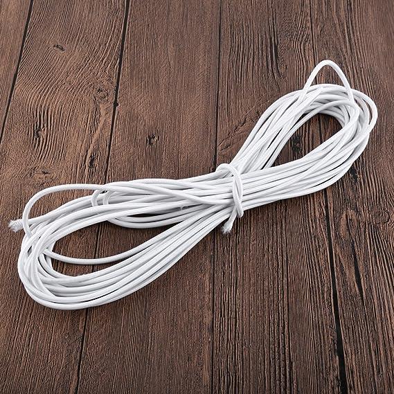 Negro Cuerda de Goma El/ástico de 4 mm Correa El/ástica 10 Metros Hacia Abajo Cuerda de Choque para Artesan/ía de Bricolaje