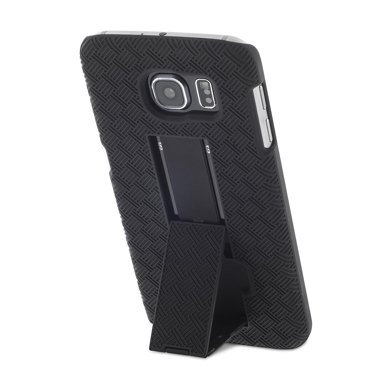 Carcasa y Funda de Aduro Shell y Funda Super Slim Shell con funci/ón Atril Integrado Funda con Clip Giratorio para cintur/ón para Samsung Galaxy S6 Funda para Galaxy S6