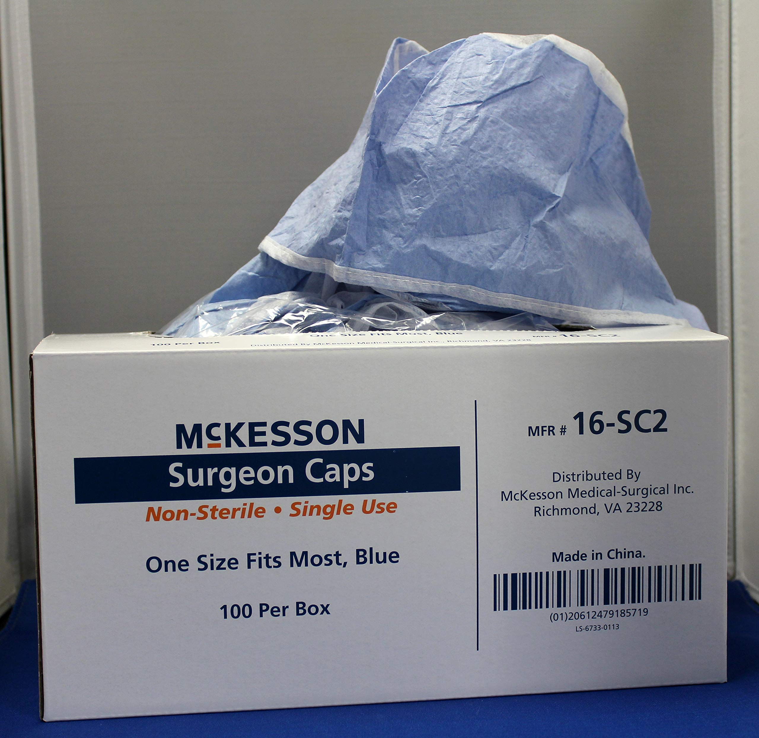 MCK72321100 - Mckesson Brand Surgeon Cap McKesson One Size Fits Most Blue Ties by McKesson