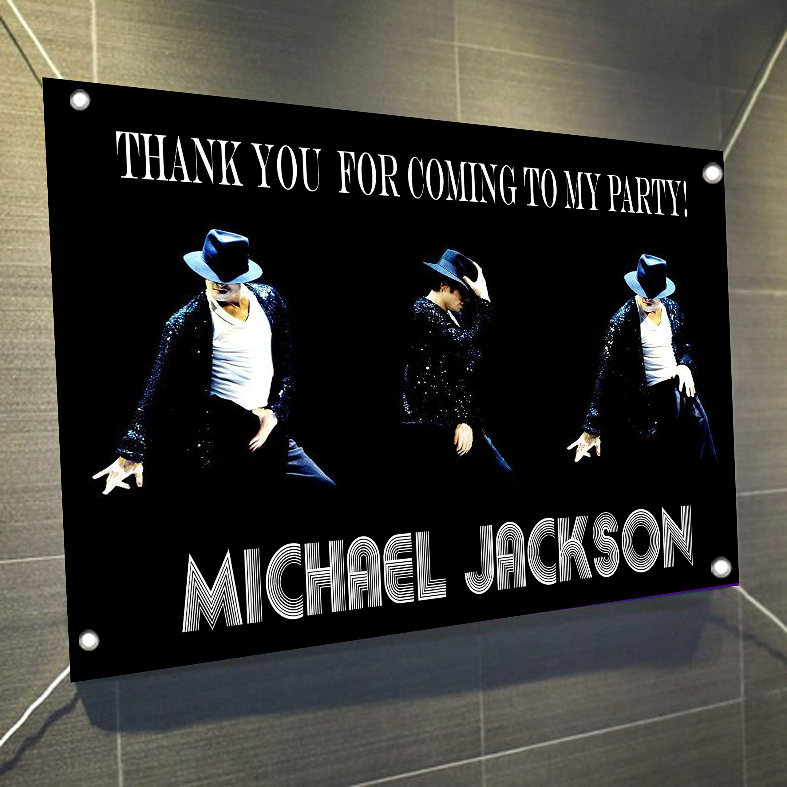 Michael Jackson Large Vinyl Indoor or Outdoor Banner Sign Poster Backdrop Decoration, Waterproof, 30'' x 24'', 2.5' x 2'