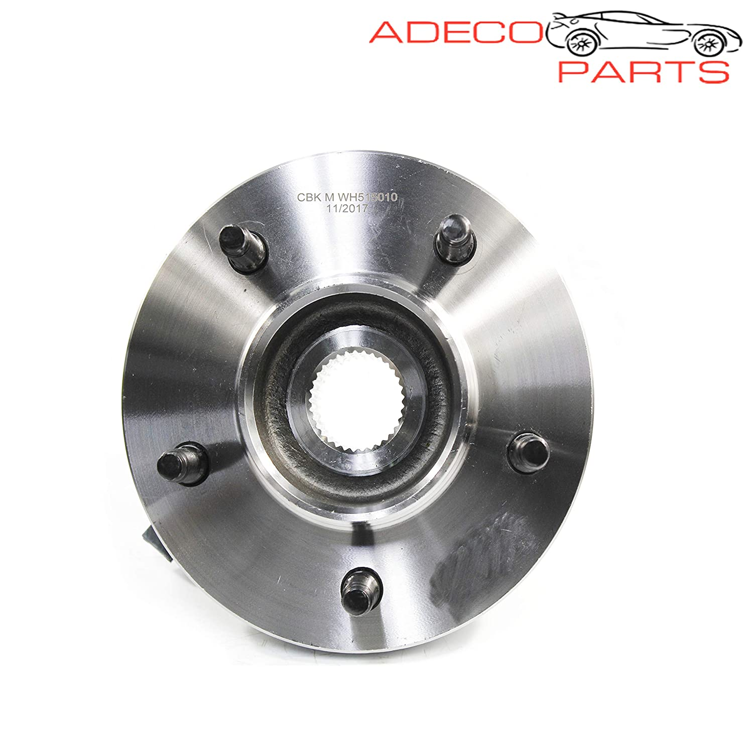 AdecoAutoParts/© Two 515010 BR930318 Front Wheel Bearing /& Hub Assembly for Ford F-150 1997 1998 1999 2000 4WD