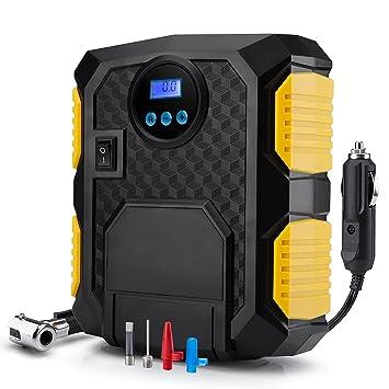 QZT i50 PSI compresor portátil de aire comprimido 12 V Bomba para inflar ruedas Digital con cable 3 metros totalmente: Amazon.es: Coche y moto