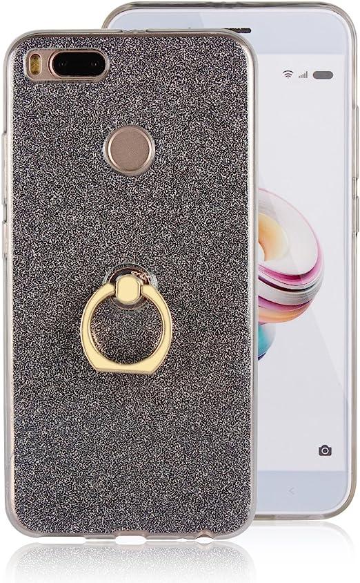 xifanzi Xiaomi Mi A1 Funda con Anillo Suave TPU + Papel Brillo ...