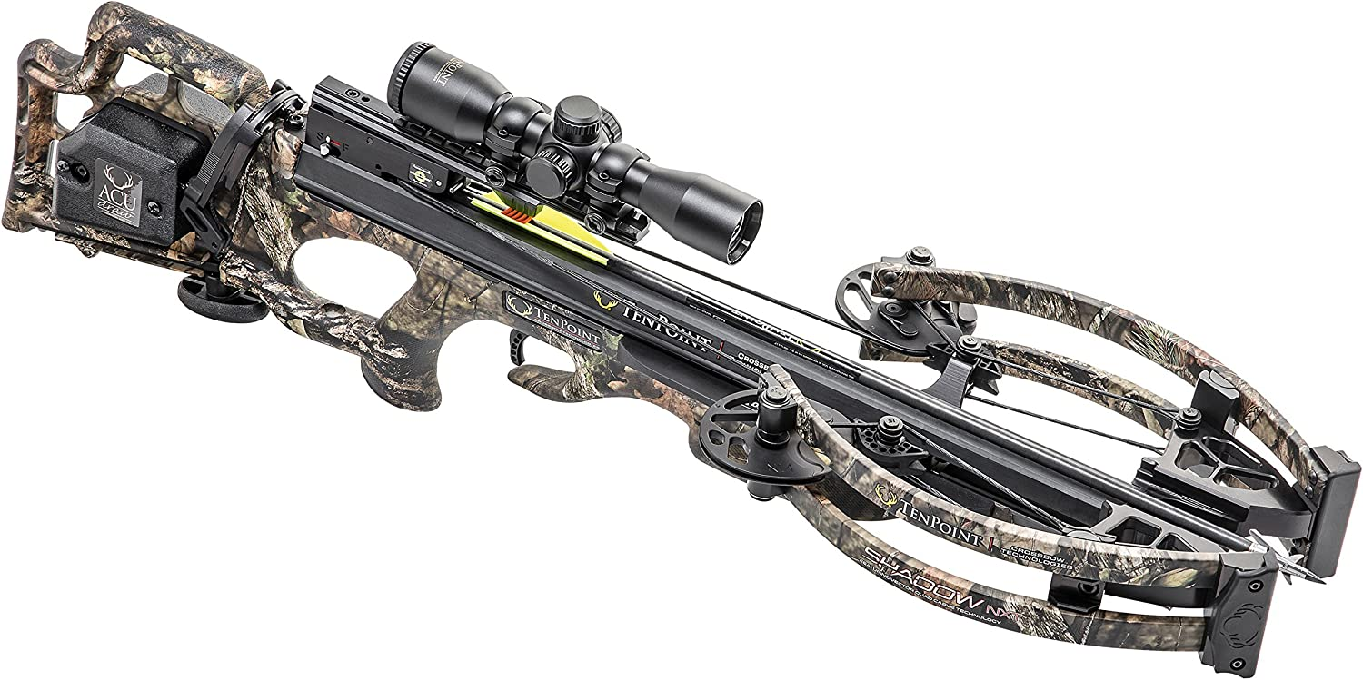 Tenpoint CB18018-5822 Shadow NXT Crossbow Package with Pro-View 2 Scope, Quiver, and Arrows