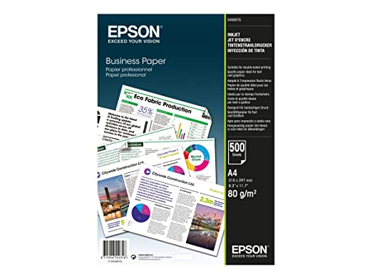 81 opinioni per Epson Business Paper 80gsm 500 shts A4 (210×297 mm) White- printing paper (A4
