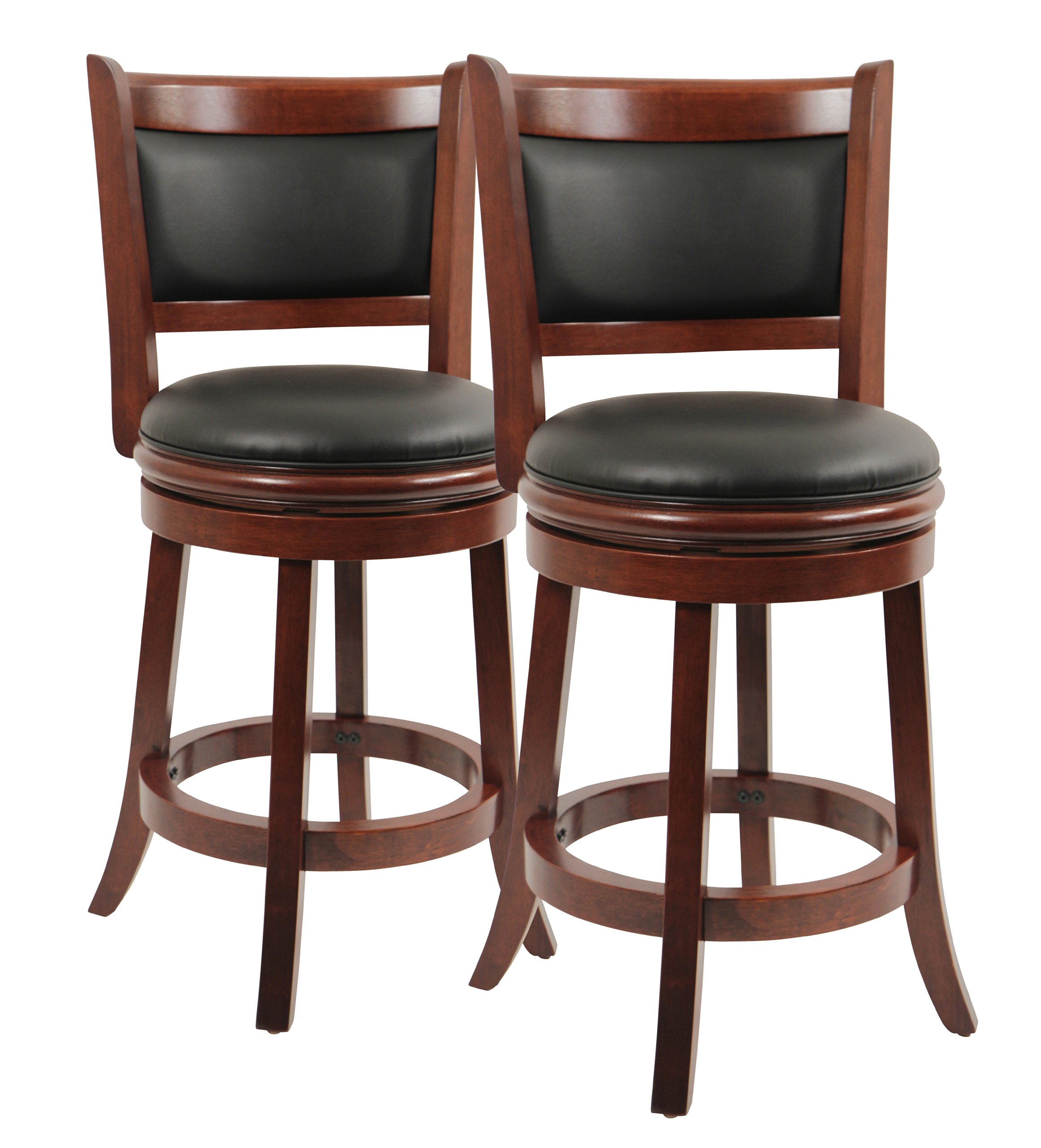 "360° Swivel Kitchen Bar Stool 24"" Dining Chair Geniun"