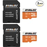 Micro SD Card 32GB,AUAMOZ Micro SDHC Class 10 UHS-I High Speed Memory Card for Phone,Tablet and PCs - with Adapter (2 Pack)