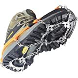 Ice Snow Cleat Spikes Crampons - YUEDGE Ice Snow Antiskid Stainless Steel Crampons Spikes Grips Traction Cleats With Velcro Straps For Winter Walking Fishing Hiking