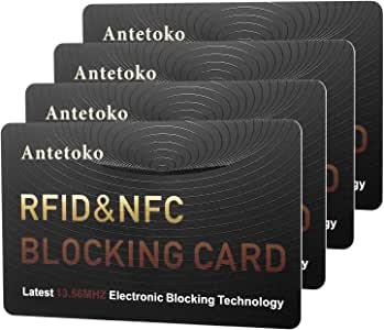 RFID Blocking Card | NFC Contactless Cards Protection | Protect Your Entire Wallet | No More Need for Single Sleeves | for Men or Women, Credit Card ...