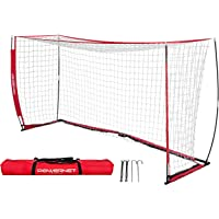 PowerNet Soccer Goal 12 x 6 | Portable Net Collapsible Metal Base | Durable Vertical Bow Poles | Quick Setup Easy…