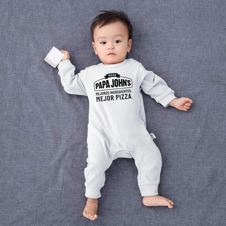 Baby Boys Girls Long Sleeve Baby Onesie Romper Jumpsuit Papa-Johns-Pizza-Logos-Sign