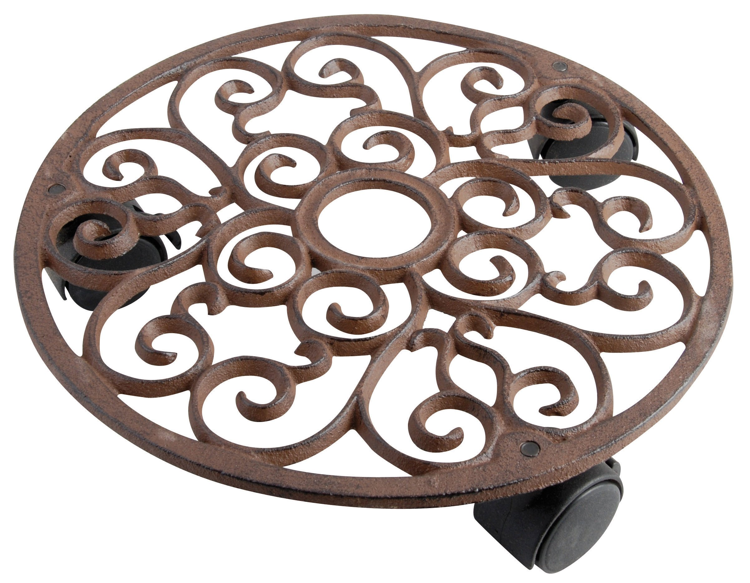Esschert Design Plant Trolley - Round Cast Iron by Esschert Design