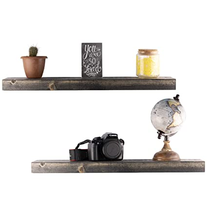 Amazon Floating Shelves Wall Mounted Shelf Rustic Wood Decor Mesmerizing Floating Shelves In Living Room