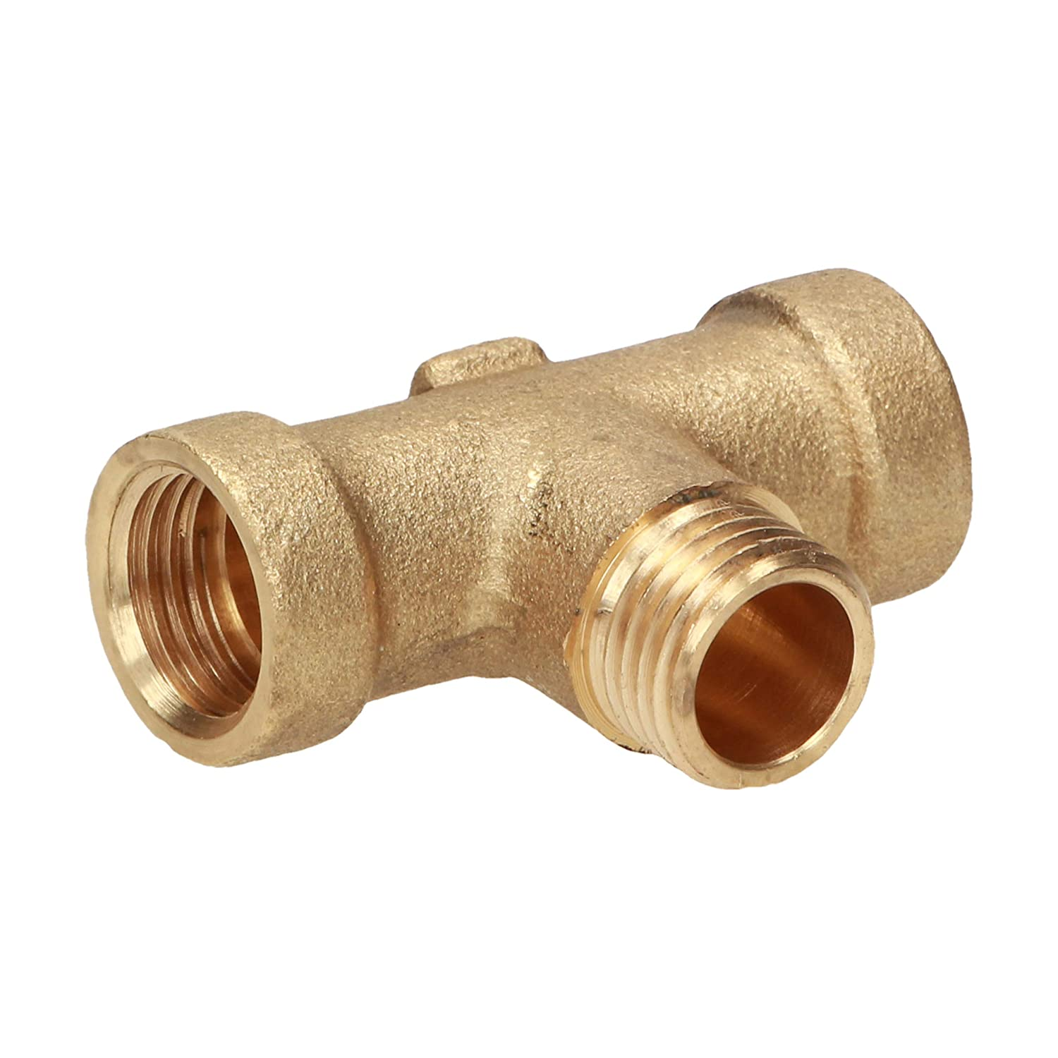 Brass T-piece in various designs and sizes ideal for industry 1 trade and household 1//4
