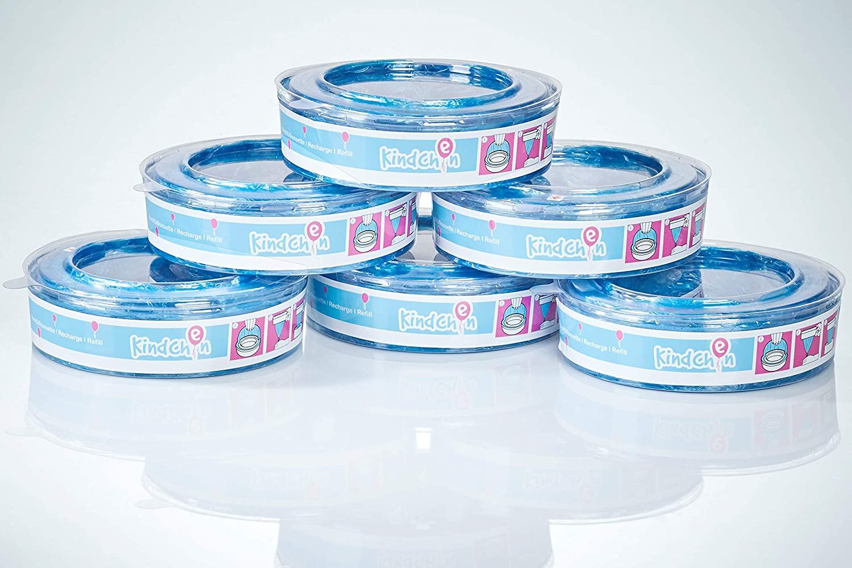 Kindchen recambio para Angelcare contenedores de pañales, Angelcare recambios, olor agradable, pack de 6: Amazon.es: Bebé