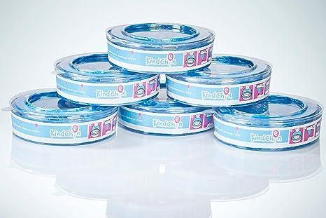 Kindchen recambio para Angelcare contenedores de pañales, Angelcare recambios, olor agradable, pack de 6