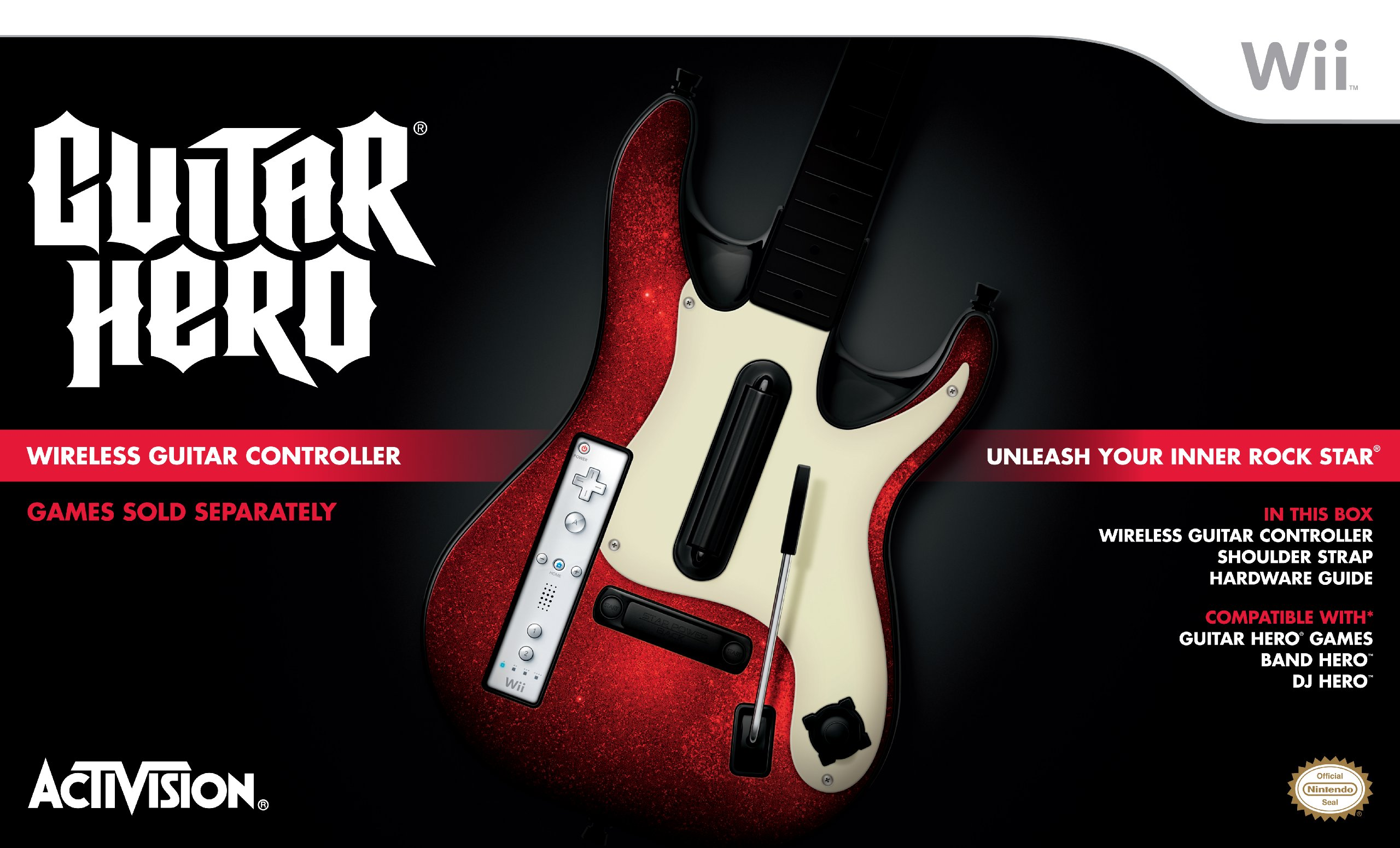 wii guitar hero 5 stand alone guitar 0047875960718 buy new and used video gameses books and. Black Bedroom Furniture Sets. Home Design Ideas