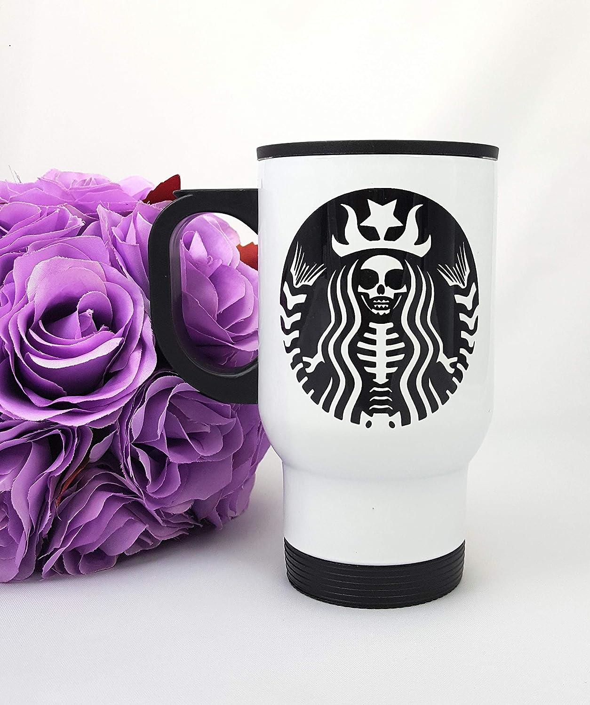 Personalized Halloween Spooky Coffee Travel Mug Stainless Steel 14 oz