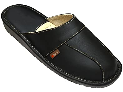 5f586b7d13e BeComfy Men s Casual Leather Slippers