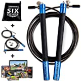 Jump Rope | Adjustable Sped Rope By Evolution SIX Fitness | The Perfect Jump Rope For Crossfit , Boxing, MMA and Body Weight Workouts | Extra Ultra Speed Cable And Workout System Included