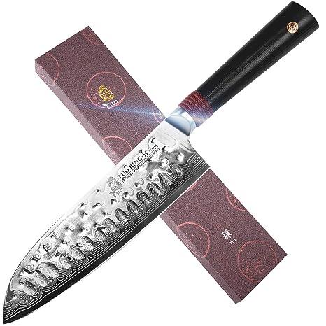 Amazon.com: TUO - Cuchillo de cocina (acero de Damasco ...