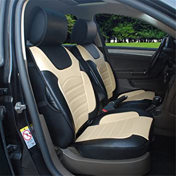 180205S Black/Tan-2 Front Car Seat Cover Cushions Leather Like Vinyl Compatible & Amazon.com: 180205S Black/Tan-2 Front Car Seat Cover Cushions ... markmcfarlin.com