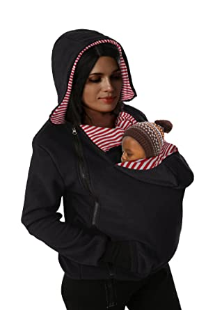 4c66cce75443b Makkrom Women's Maternity Zip Up Hoodie for Baby Carriers Multifunctional Sweater  Coat at Amazon Women's Clothing store: