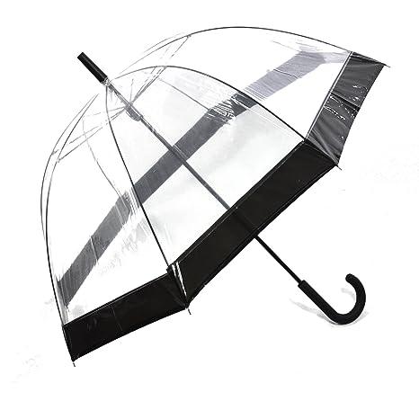 Happy Rain paraguas transparente transparente Campana pantalla negro