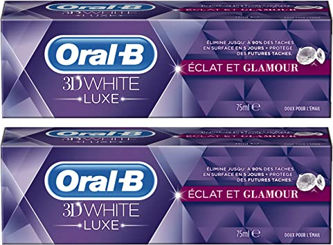 Oral-B 3D blanco pasta de dientes manual Eclat de lujo y glamour ...